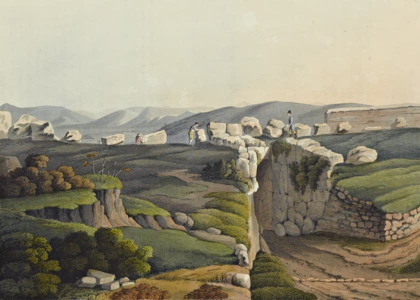 Grecian Remains in Italy - Interior of the Great Cyclopian Gate of the Citadel of Alatri (1812)