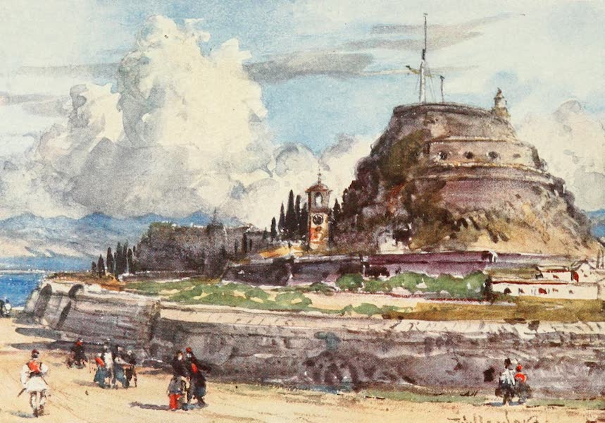 Greece Painted and Described - Corfu. The Old Fort from the West (1906)