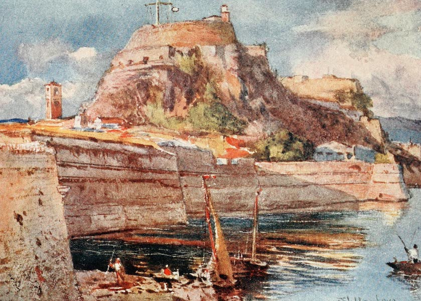 Greece Painted and Described - Corfu. The Old Fort from the South (1906)