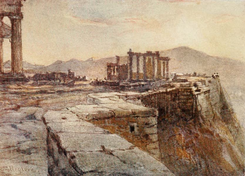 Greece Painted and Described - Sunset from the North-Eastern Corner of the Acropolis (1906)