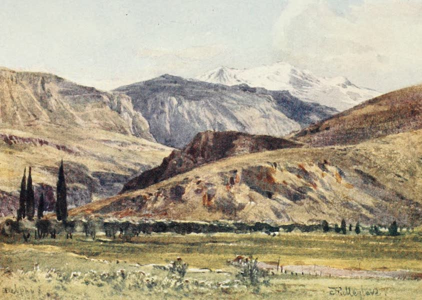 Greece Painted and Described - Delphi from Itea (1906)