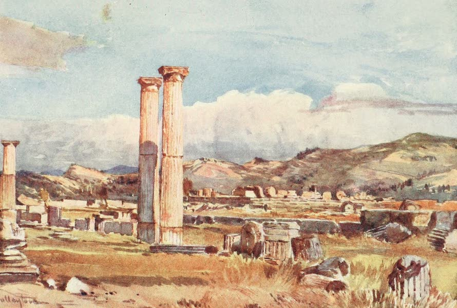Greece Painted and Described - Olympia. The Palaestra and remains of the Temple of Zeus (1906)