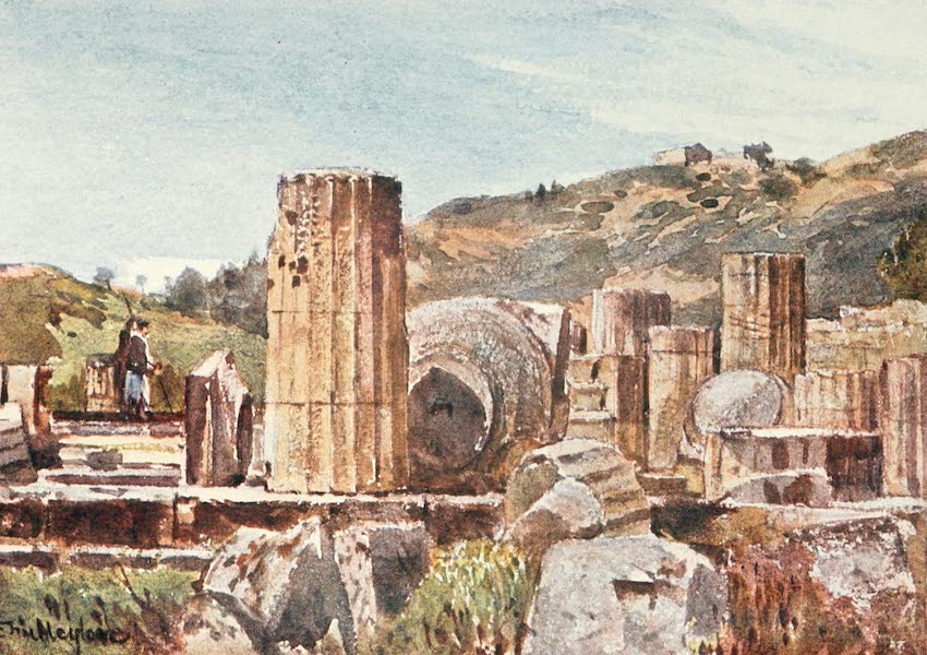 Greece Painted and Described - The Temple of Hera at Olympia (1906)