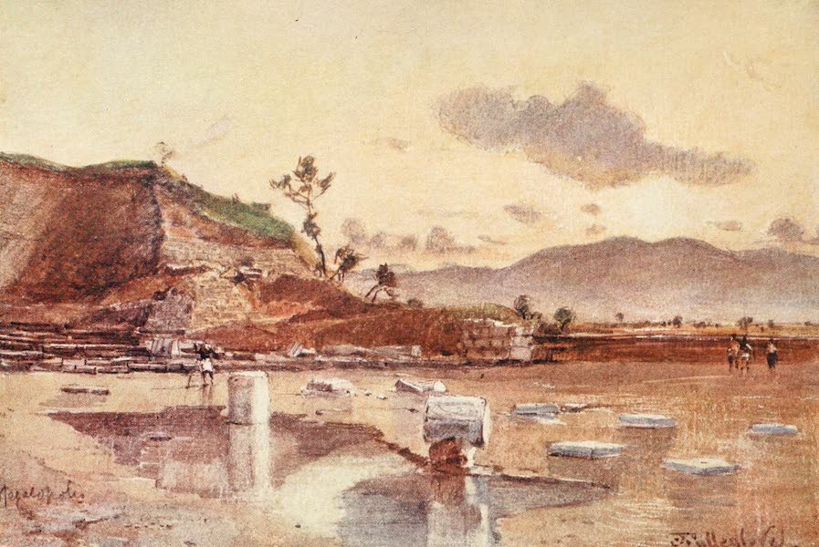Greece Painted and Described - Site of Megalopolis in Arcadia (1906)