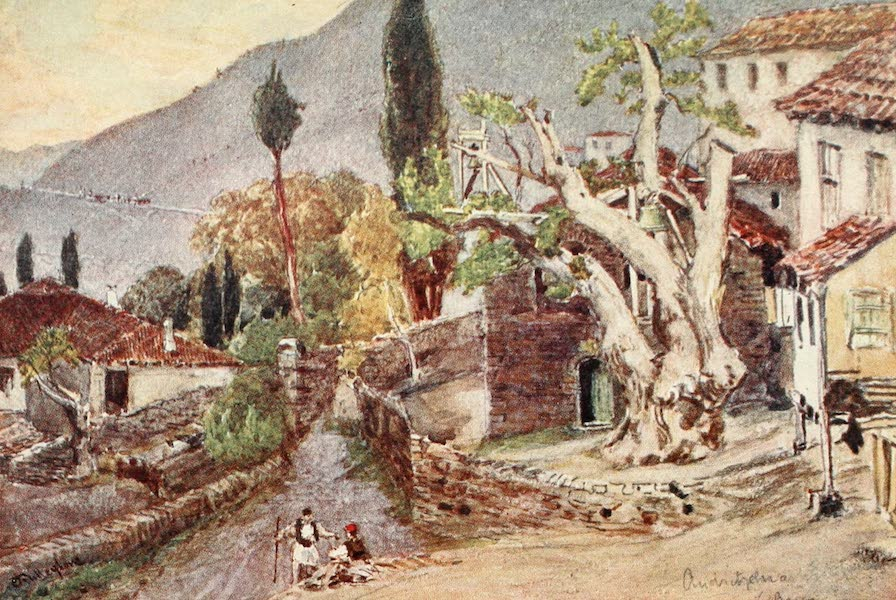 Greece Painted and Described - Andritsaena. The resting-place for the Temple of Apollo at Bassae (1906)