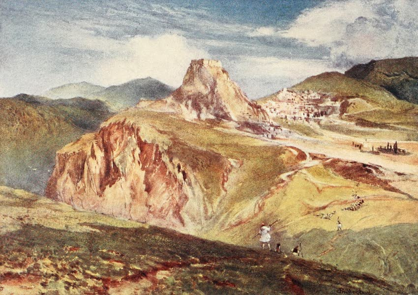 Greece Painted and Described - The Castle of Karytsna in Arcadia (1906)