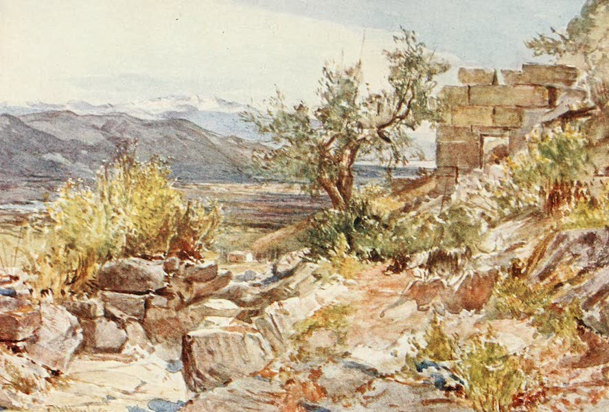 Greece Painted and Described - The Laconian Gate of Messene (1906)