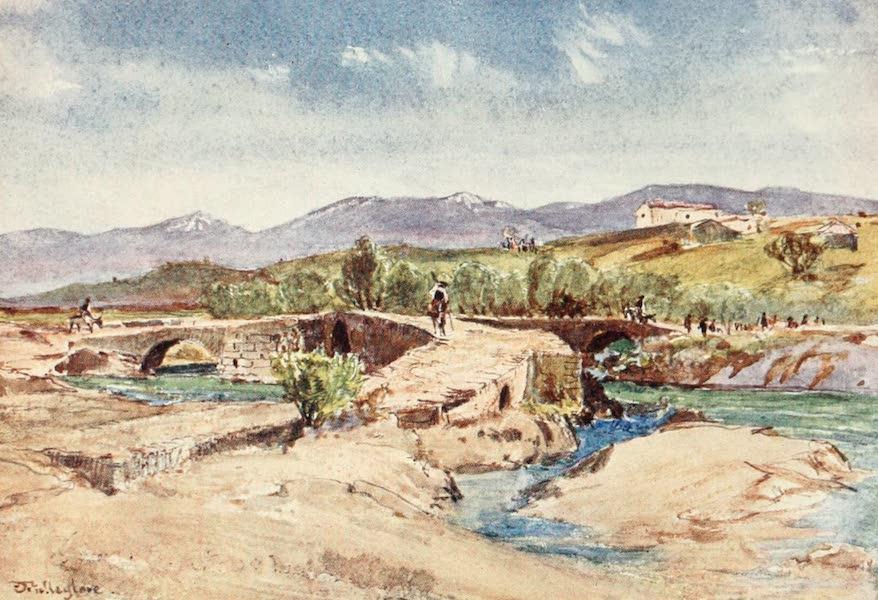 Greece Painted and Described - Triple Bridge over the Mavrozoumenos River (1906)