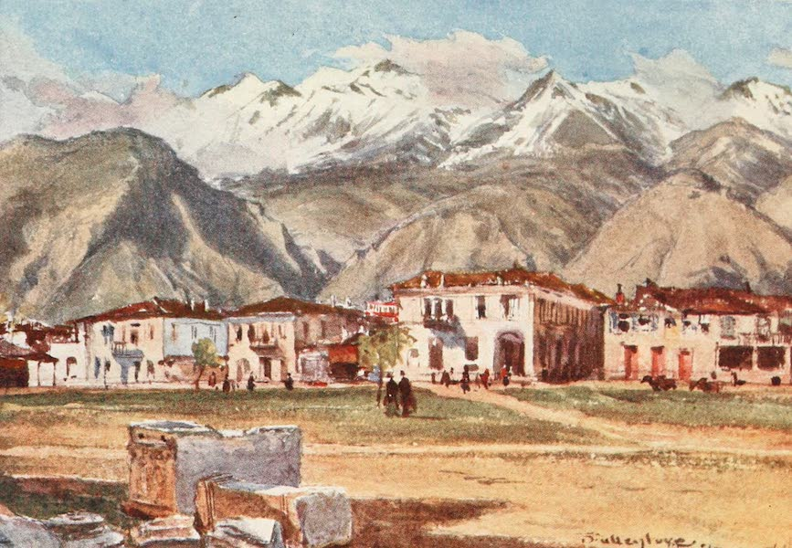 Greece Painted and Described - Sparta and Mount Taygetus (1906)