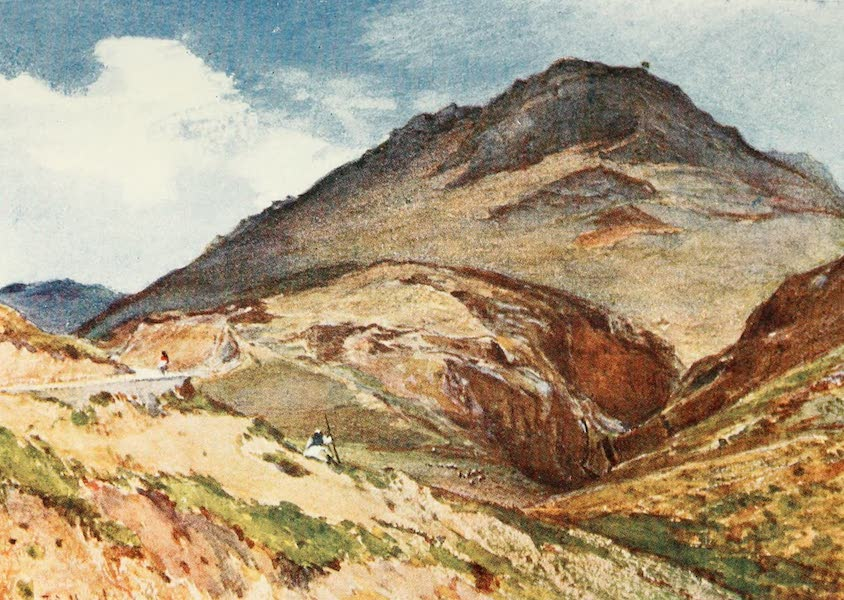 Greece Painted and Described - The Acropolis of Mycens from South-West, with Mount Elias (1906)