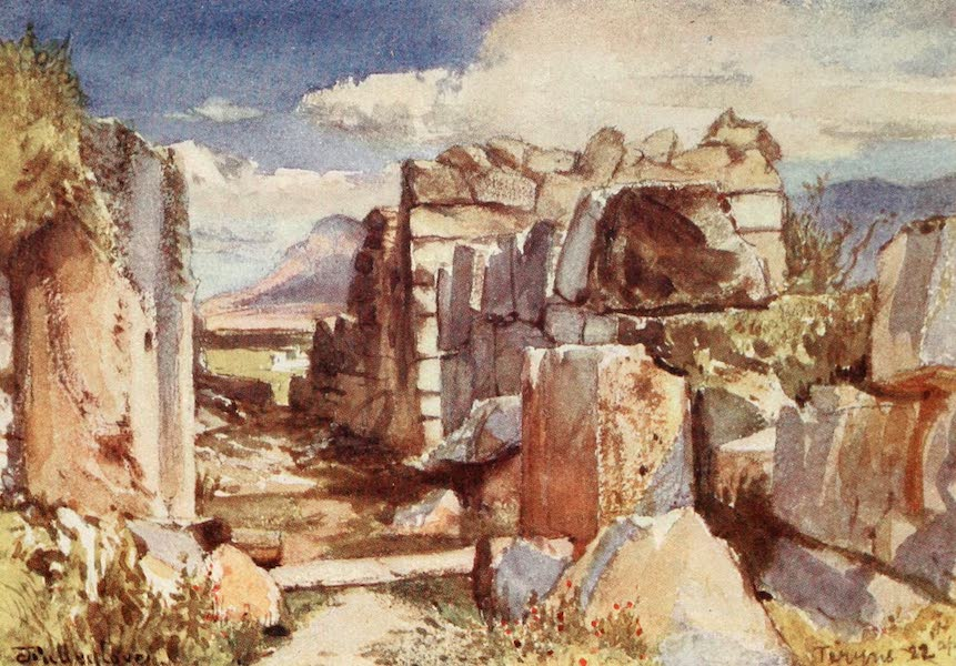Greece Painted and Described - Tiryns. The Gate of the Upper Castle (1906)