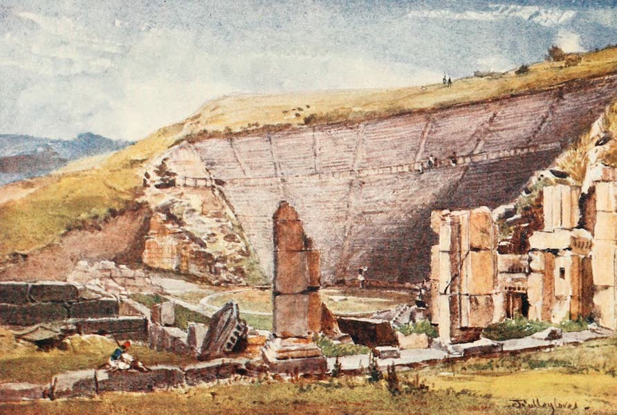 Greece Painted and Described - The Theatre of Epidaurus (1906)