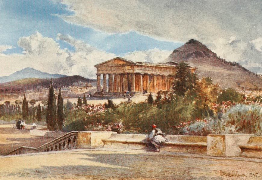 Greece Painted and Described - The Temple of Theseus from the South-West (1906)