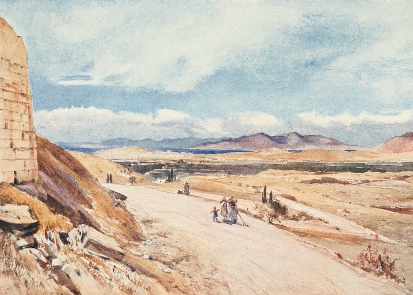 Greece Painted and Described - The Seaward End of the Plain of Attica looking towards Salamis (1906)