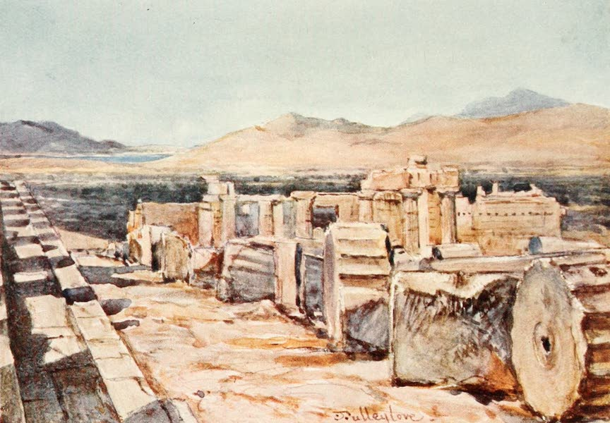 Greece Painted and Described - The Propylsea from the Northern Edge of the Platform of the Parthenon (1906)