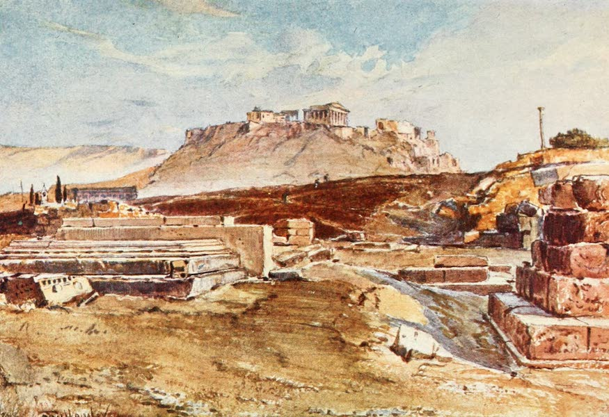 Greece Painted and Described - The Dipylon at Athens (1906)