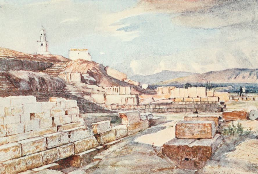 Greece Painted and Described - The Great Temple of the Mysteries, Eleusis (1906)