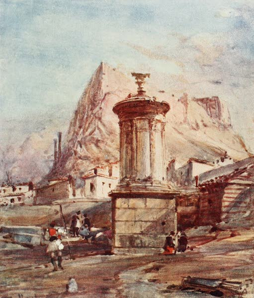 Greece Painted and Described - The Choragic Monument of Lysicrates (1906)