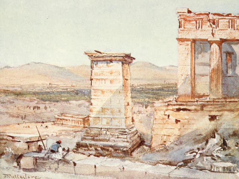 Greece Painted and Described - Athens. The Monument of Agrippa and the Pinacotheca (1906)
