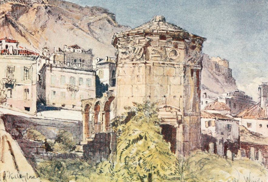 Greece Painted and Described - The Tower of the Winds (1906)