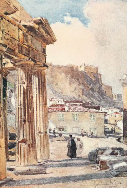 Greece Painted and Described - The Portico of Athena Archegetis (1906)