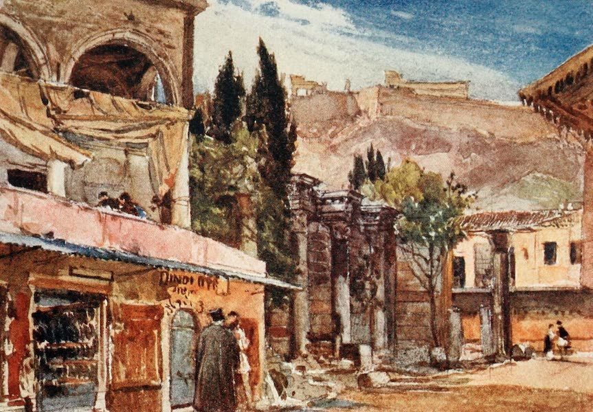 Greece Painted and Described - The Stoa of Hadrian (1906)