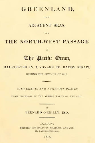 English - Greenland, the Adjacent Seas, and the North-West Passage