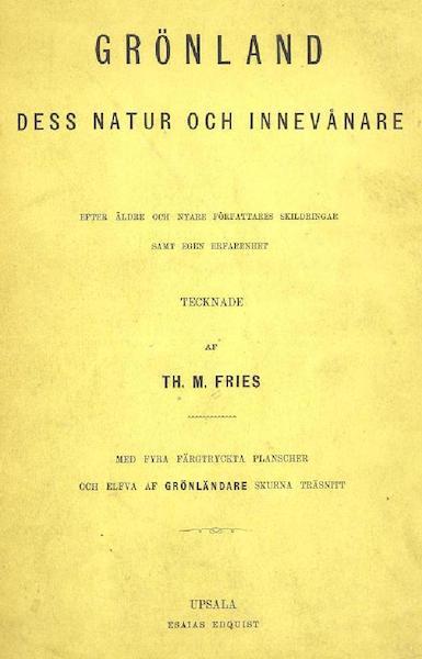 Gronland, dess Natur och Innevanare - Title Page (1872)