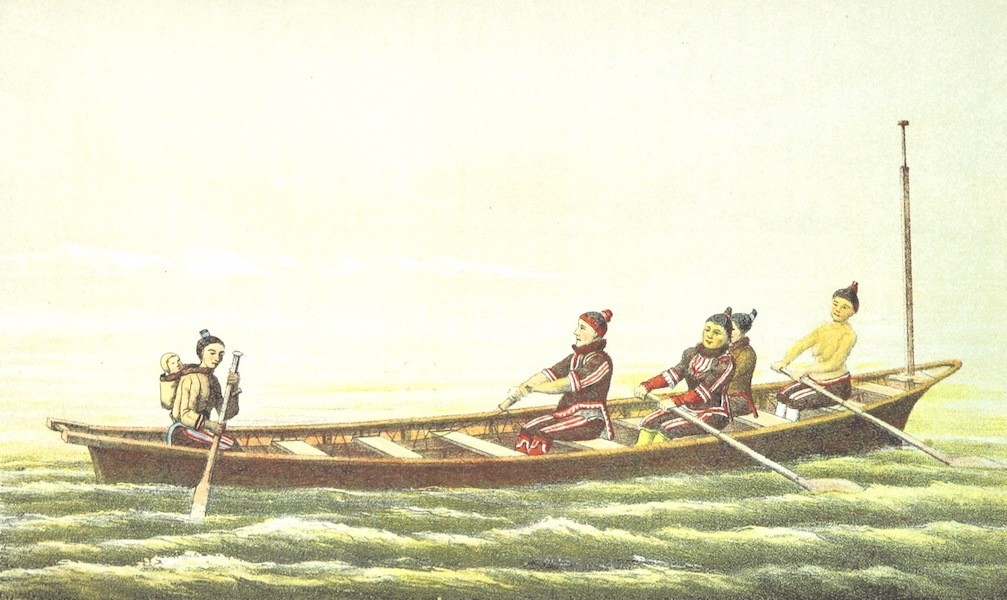 Gronland, dess Natur och Innevanare - Umiak Eller Qvinnobat (1872)