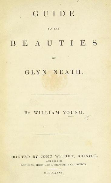 Guide to the Beauties of Glyn Neath - Title Page (1835)