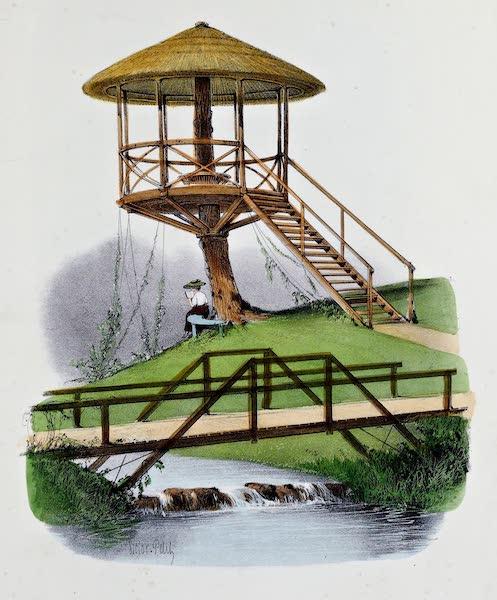 Habitations Champetres Vol. 2 - Cabane et Pont Rustiques du Parc de la Motte (1848)