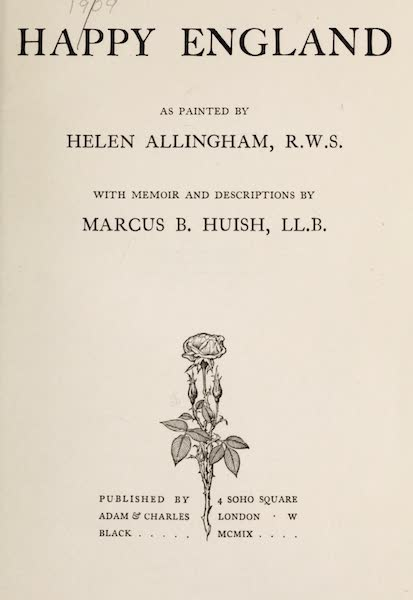 Happy England Painted and Described - Title Page (1909)