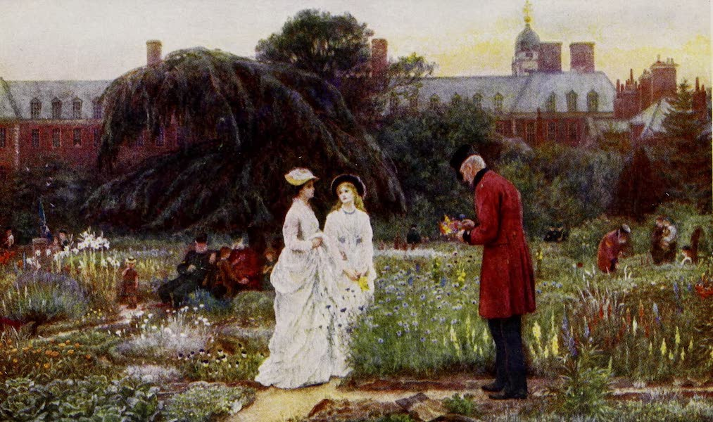Happy England Painted and Described - The Old Men's Gardens, Chelsea Hospital (1909)