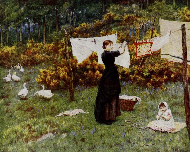 Happy England Painted and Described - The Clothes-Line (1909)