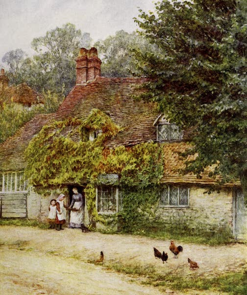 Happy England Painted and Described - The Fish-Shop, Haslemere (1909)