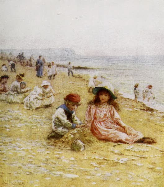 Happy England Painted and Described - On the Sands-Sandown, Isle of Wight (1909)
