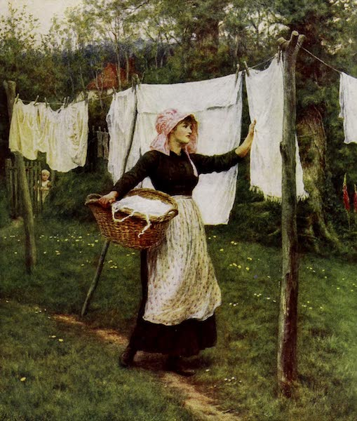 Happy England Painted and Described - Drying Clothes (1909)