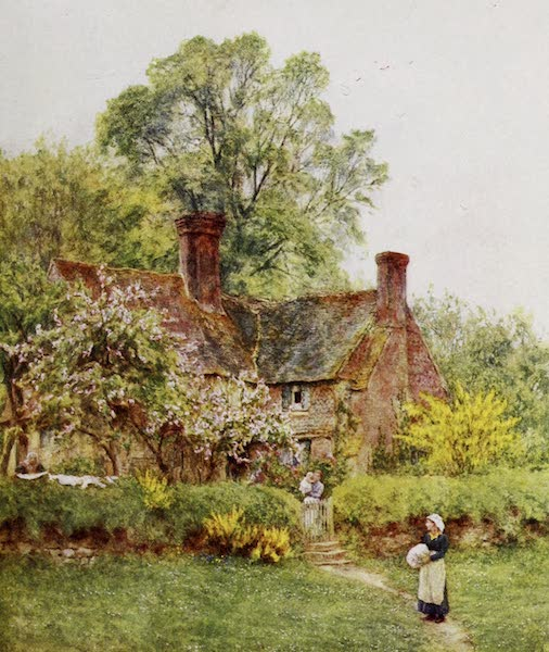 Happy England Painted and Described - Cottage at Chiddingfold (1909)