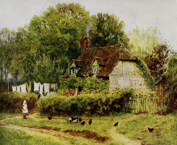Happy England Painted and Described - A Cottage at Hambledon (1909)
