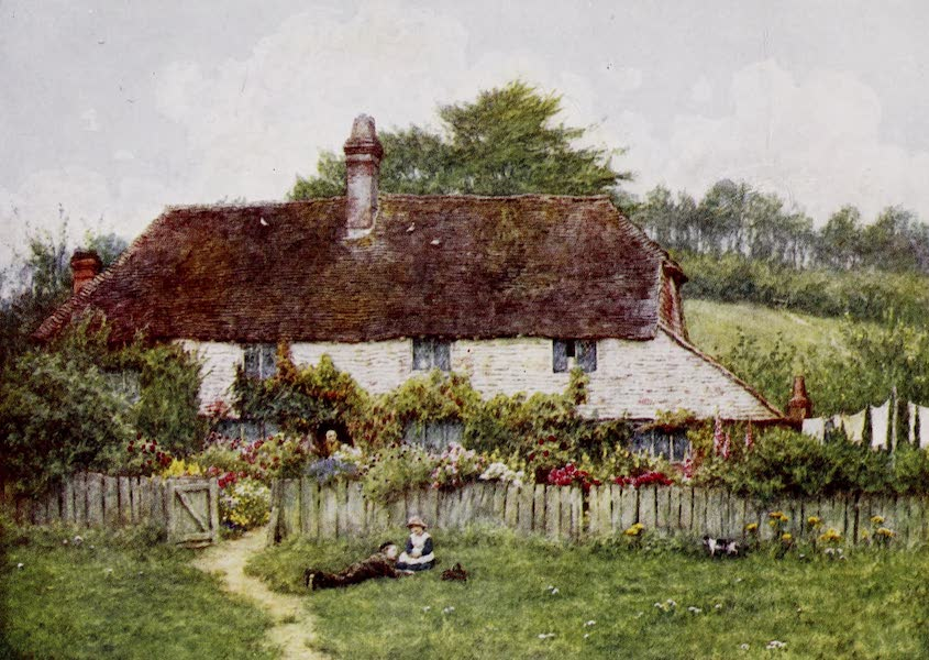 Happy England Painted and Described - Cottage at Shottermill, near Haslemere (1909)