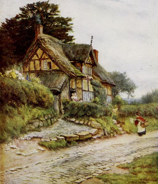 Happy England Painted and Described - A Cheshire Cottage, Alderley Edge (1909)