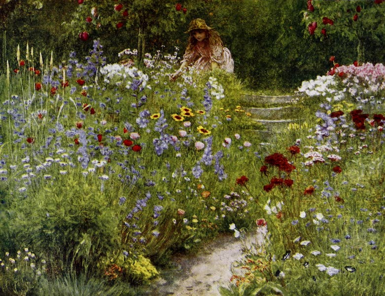 Happy England Painted and Described - In a Summer Garden (1909)