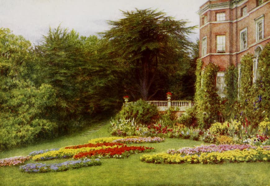 Happy England Painted and Described - By the Terrace, Brocket Hall (1909)