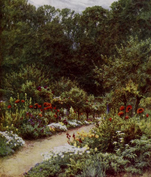 Happy England Painted and Described - The Kitchen-Garden, Farringford (1909)