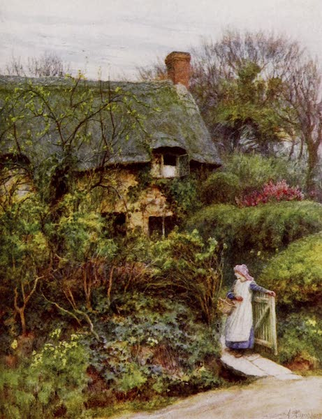 Happy England Painted and Described - One of Lord Tennyson's Cottages, Farringford (1909)