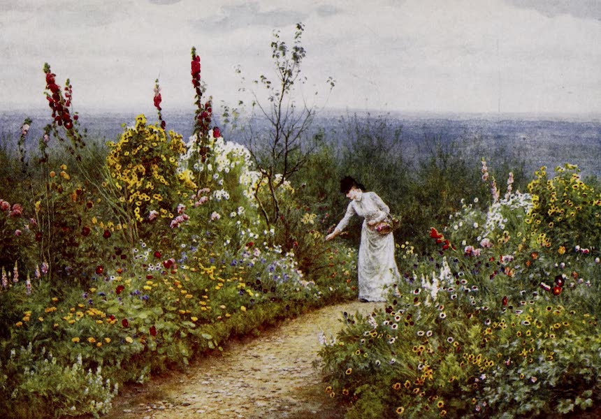 Happy England Painted and Described - A Garden in October, Aldworth (1909)