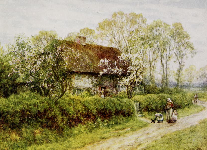 Happy England Painted and Described - A Cottage at Freshwater Gate (1909)