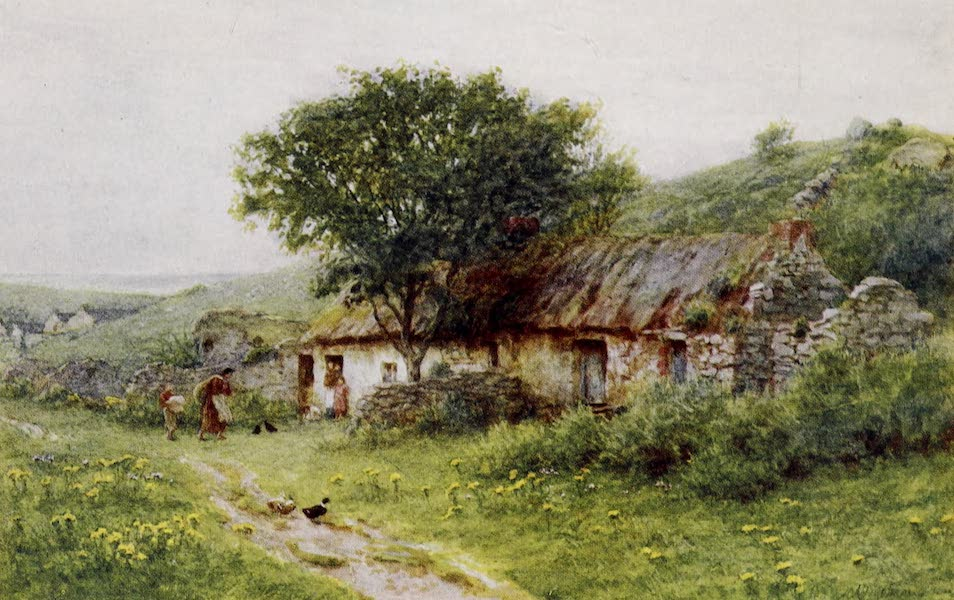 Happy England Painted and Described - A Cabin at Ballyshannon (1909)