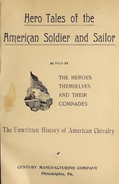 Hero Tales of the American Soldier and Sailor - Title Page (1899)