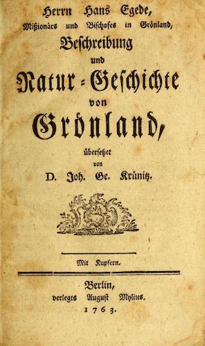 John Carter Brown Library - Herrn Hans Egede, Missionars und Bischofes in Gronland